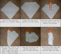How to swaddle image.